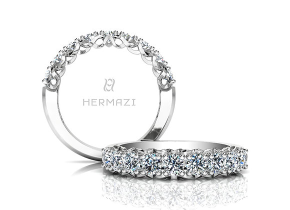 Hermazi® 'Infinite' Halfway Diamond Band