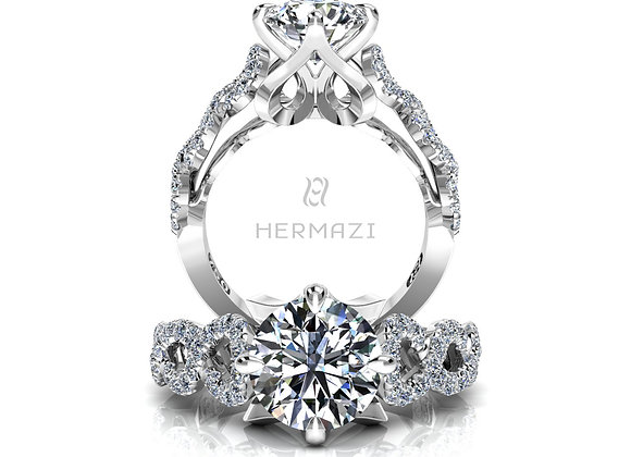 Hermazi® 'Chaîné' Diamond Engagement Ring