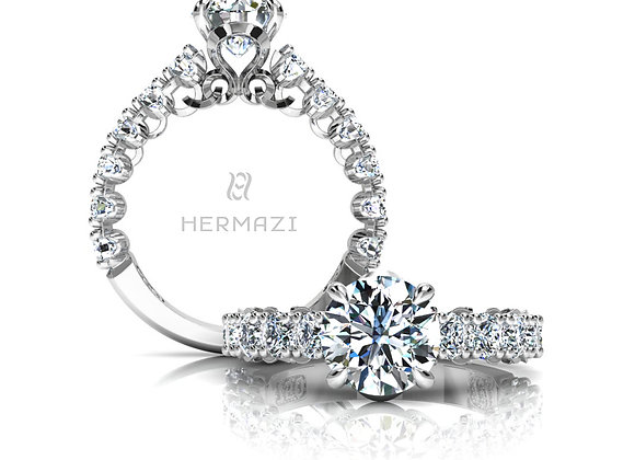Hermazi® 'Unimaginable' Three-Quarter Way Diamond Engagement Ring