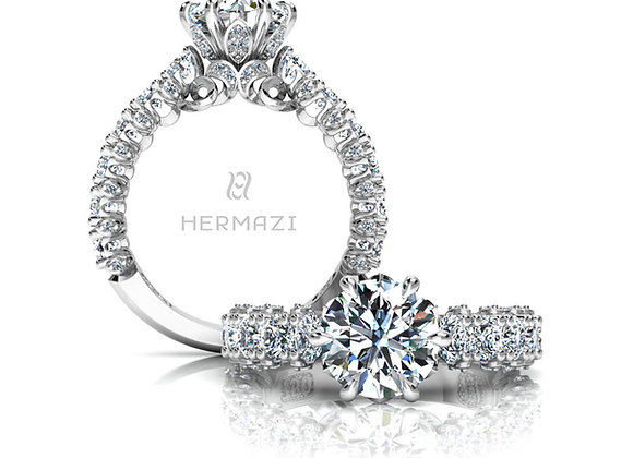Hermazi® 'Stunning' Three-Quarter Way Diamond Engagement Ring