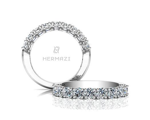Hermazi® 'Noble' Halfway Diamond Band