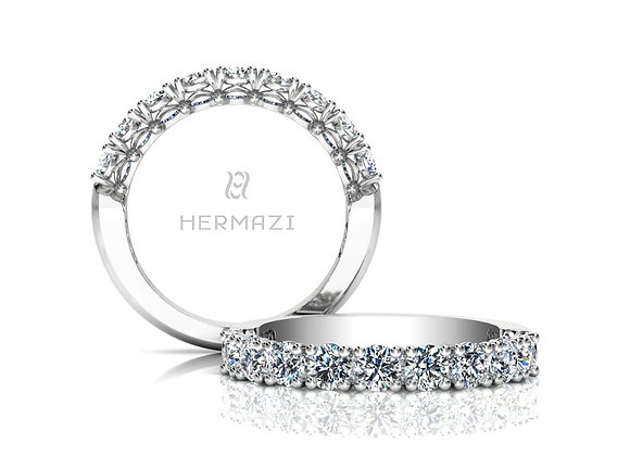 Hermazi® 'Noble' Halfway Diamond Band