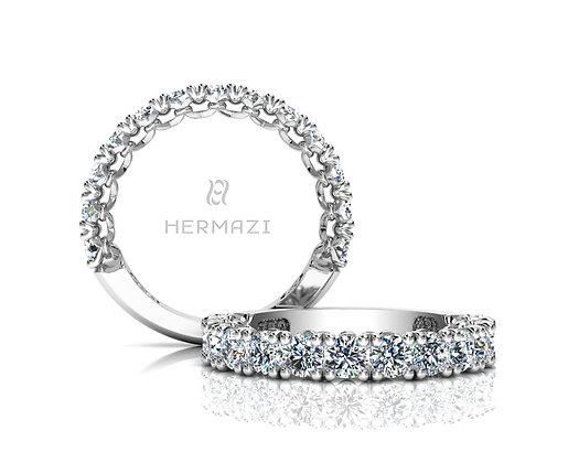 Hermazi® 'Devotion' Three-Quarter Way Diamond Band