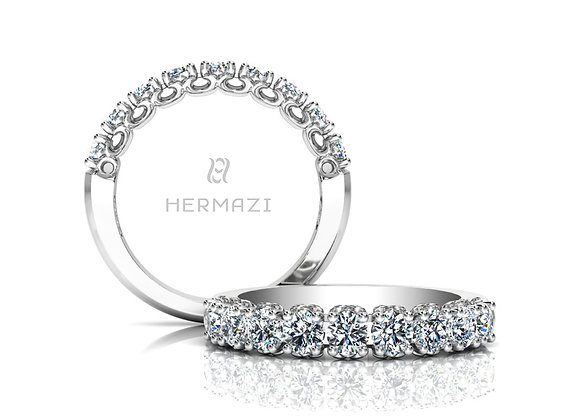 Hermazi® 'Compassion' Halfway Diamond Band