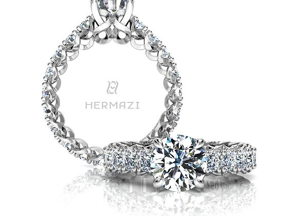 Hermazi® 'Infinite' Eternity Diamond Engagement Ring