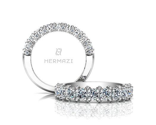 Hermazi® 'Stunning' Halfway Diamond Band