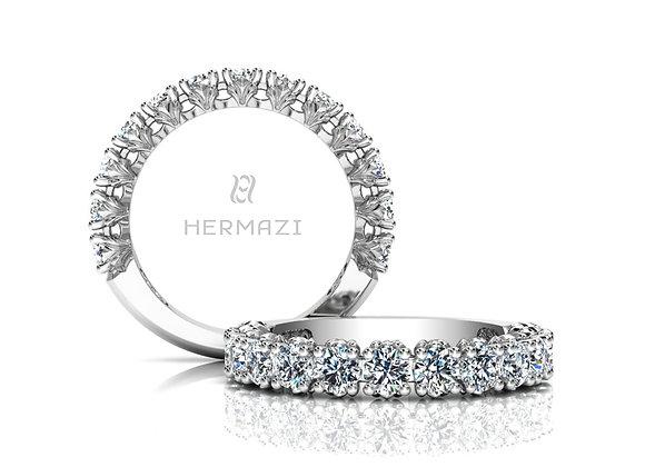 Hermazi® 'Loyalty' Three-Quarter Way Diamond Band