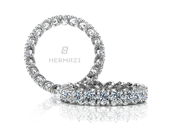 Hermazi® 'Elegance' Eternity Diamond Band