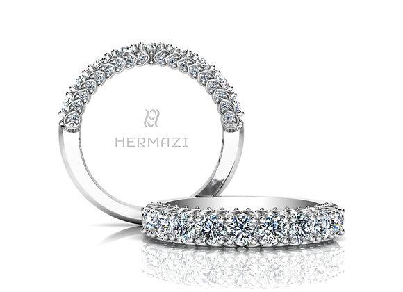Hermazi® 'Everlasting' Halfway Diamond Band