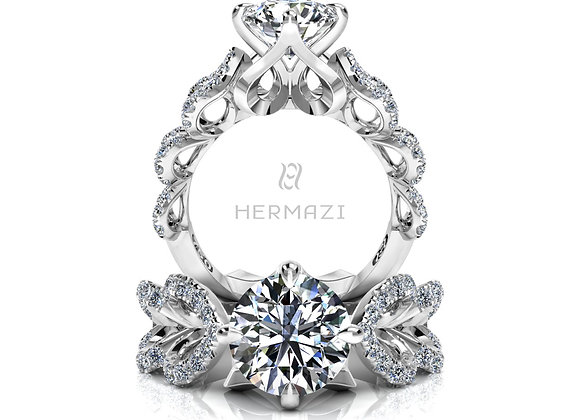 Hermazi® 'Pas de Chat' Diamond Engagement Ring