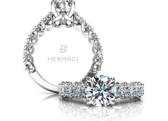 Hermazi® 'Infinite' Three-Quarter Way Ring