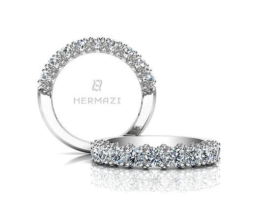 Hermazi® 'Delightful' Halfway Diamond Band