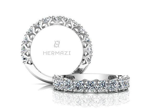 Hermazi® 'Divine' Three-Quarter Way Diamond Band