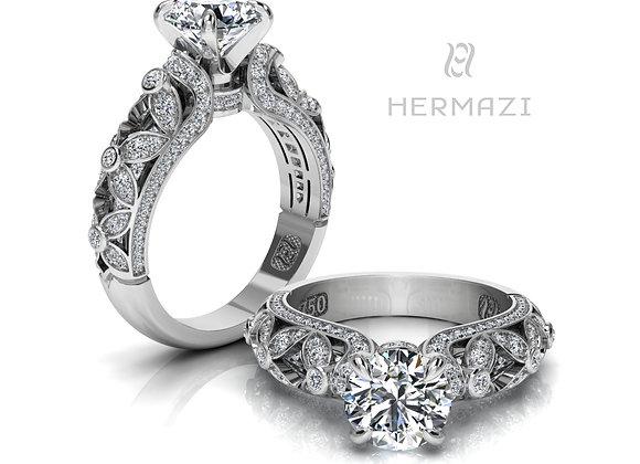 Hermazi® 'Wildflower Honey II.' Diamond Engagement Ring