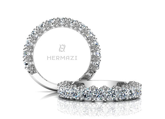 Hermazi® 'Delightful' Three-Quarter Way Diamond Band