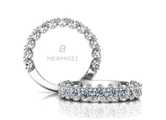 Hermazi® 'Serene' Three-Quarter Way Diamond Band