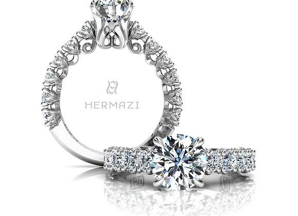Hermazi® 'Loyalty' Three-Quarter Way Diamond Engagement Ring