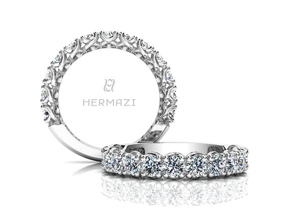 Hermazi® 'Embrace' Three-Quarter Way Diamond Band