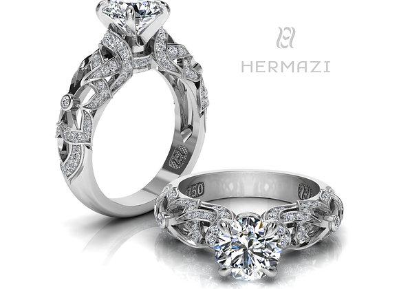 Hermazi® 'Orange Blossom Honey I.' Diamond Engagement Ring