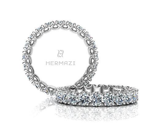 Hermazi® 'Compassion' Eternity Diamond Band