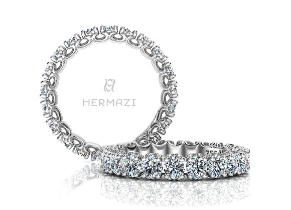 Hermazi® 'Compassion' Eternity Diamond Band