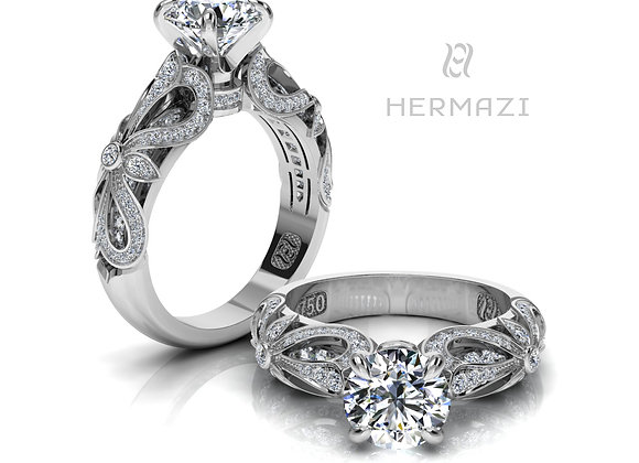 Hermazi® 'Rosemary Honey II.' Diamond Engagement Ring
