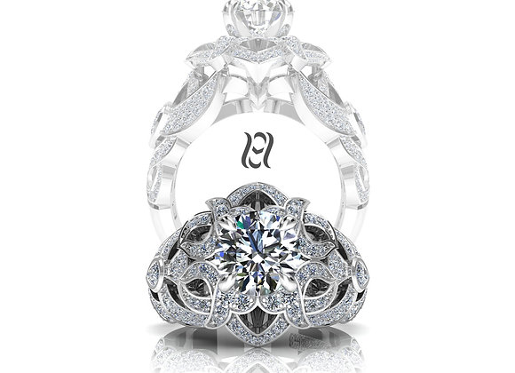 Hermazi® 'Heliconia' Diamond Ring