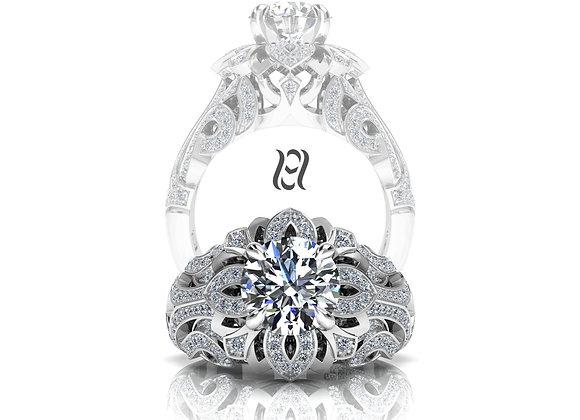 Hermazi® 'Lilac Petite' Diamond Ring