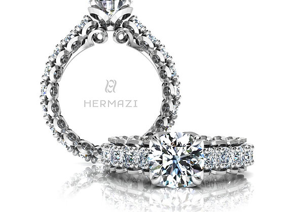 Hermazi® 'Infatuate' Eternity Diamond Engagement Ring