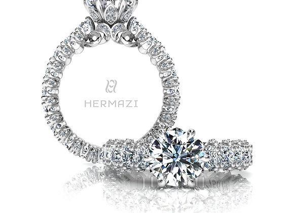 Hermazi® 'Stunning' Eternity Diamond Engagement Ring