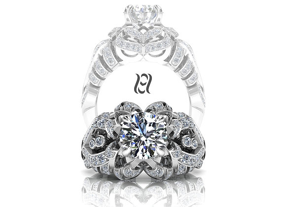 Hermazi® 'Camellia Petite' Ring