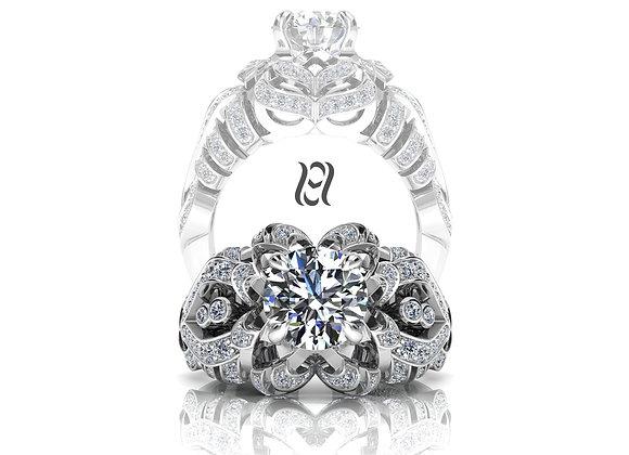 Hermazi® 'Camellia Petite' Diamond Ring