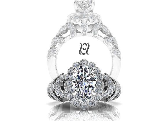 Hermazi® 'Pompom Dahlia Petite' Diamond Ring