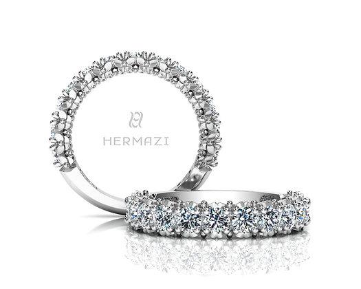 Hermazi® 'Blissful' Three-Quarter Way Diamond Band