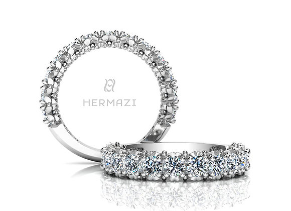 Hermazi® 'Blissful' Three-Quarter Way Diamond Band