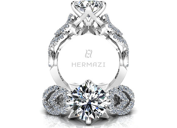 Hermazi® 'Balancé' Diamond Engagement Ring