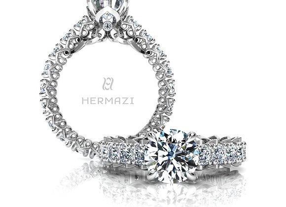 Hermazi® 'Unconditional' Eternity Diamond Engagement Ring