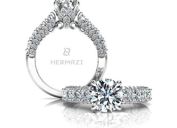 Hermazi® 'Everlasting' Halfway Diamond Engagement Ring
