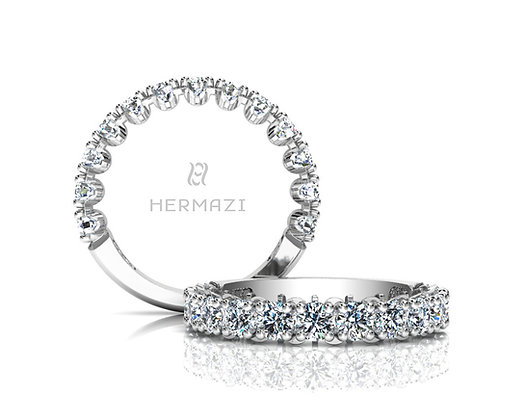 Hermazi® 'Unimaginable' Three-Quarter Way Diamond Band