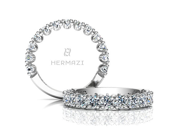 Hermazi® 'Unimaginable' Three-Quarter Way Diamond Band
