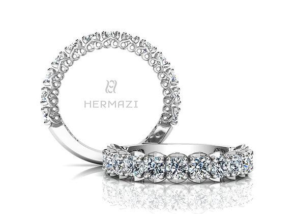 Hermazi®'Unconditional' Three-Quarter Way Diamond Band