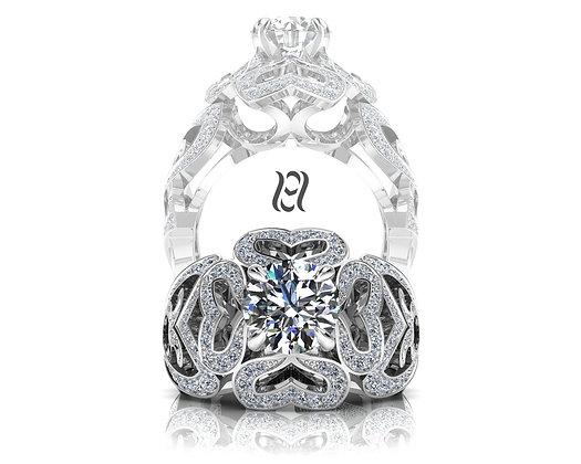 Hermazi® 'Bleeding Heart' Ring