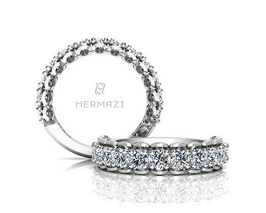 Hermazi® 'Infatuate' Three-Quarter Way Diamond Band