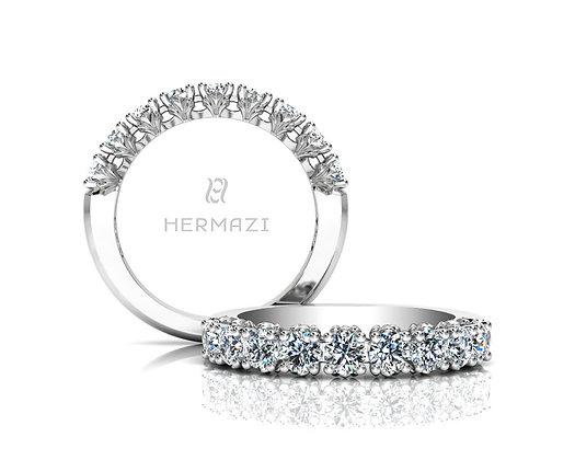 Hermazi® 'Loyalty' Halfway Diamond Band