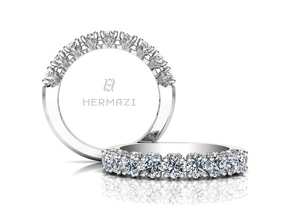 Hermazi® 'Loyalty' Halfway Diamond Band