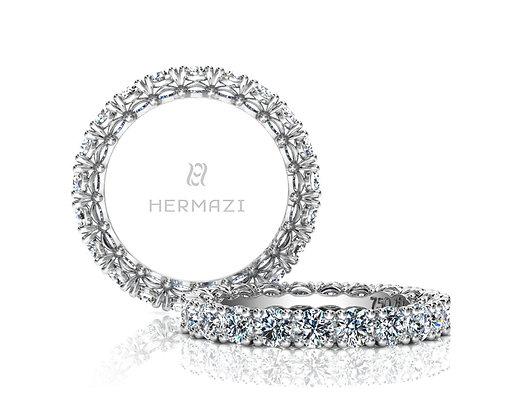 Hermazi® 'Noble' Eternity Diamond Band