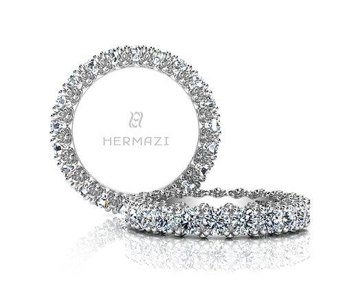 Hermazi® 'Delightful' Eternity Diamond Band