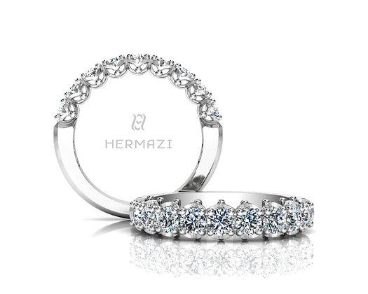 Hermazi® 'Serene' Halfway Diamond Band