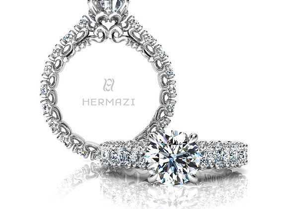 Hermazi® 'Compassion' Eternity Diamond Engagement Ring