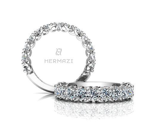 Hermazi® 'Infinite' Three-Quarter Way Diamond Band